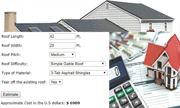 Construction cost estimating blog a roofing cost estimator for Cost to roof a house calculator