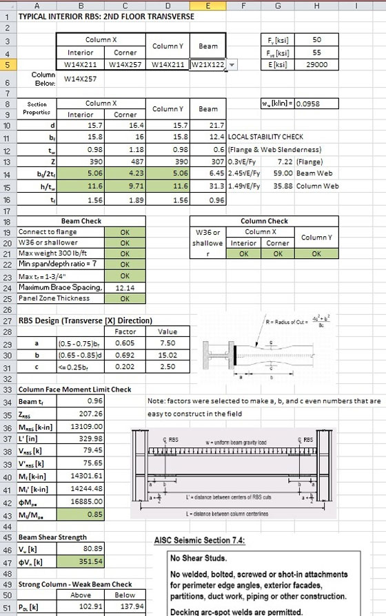 Excel Spreadsheet Design For Engineering Calculations: building cost spreadsheet