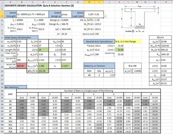 Excel Spreadsheet Design For Engineering Calculations