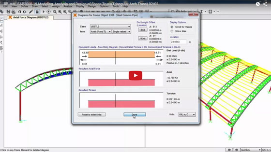 How to design, model and analysis of Space Truss
