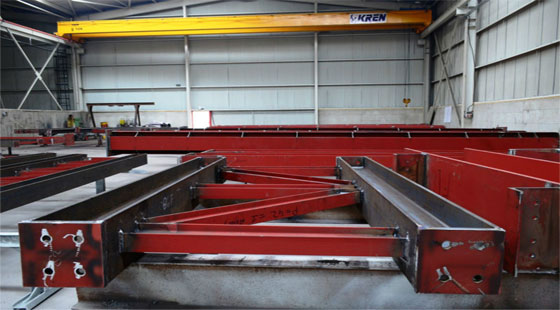 Automatic structural steel fabrication system