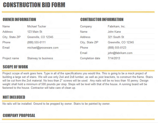 drywall bid template vatoz atozdevelopment co